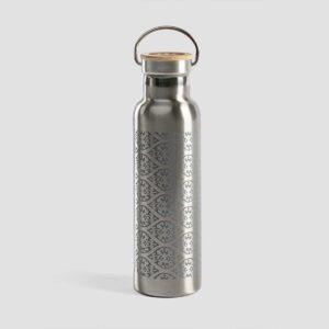 Μπουκάλι από ανοξείδωτο ατσάλι με καπάκι από μπαμπού - Blockprint