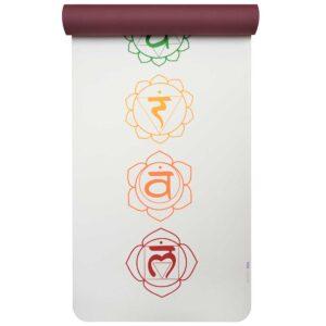 Στρώμα Yoga 'PRO ART COLLECTION' CHAKRA WHITE/RED