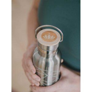 Μπουκάλι από ανοξείδωτο ατσάλι με καπάκι από μπαμπού - Mandala