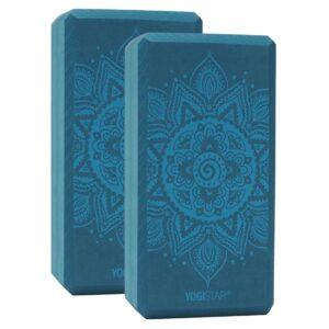 YOGIBLOCK® BASIC - SPIRAL MANDALA PETROL σετ 2 τεμ