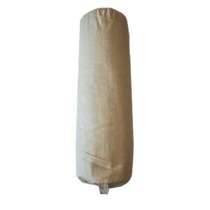 Yoga Bolster (μπεζ) από 100% βαμβάκι γεμισμένο με φαγόπυρο