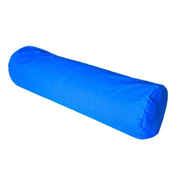 Yoga Bolster (μπλε) από 100% βαμβάκι γεμισμένο με φαγόπυρο